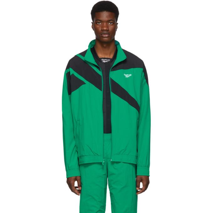 Reebok Classics Green and Black Vector Track Jacket