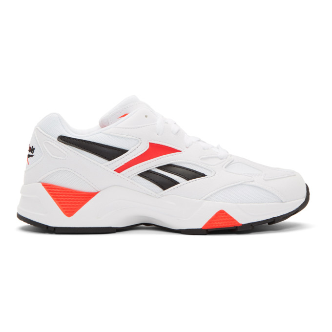 Reebok Sneakers REEBOK CLASSICS WHITE AND RED AZTREK 96 SNEAKERS