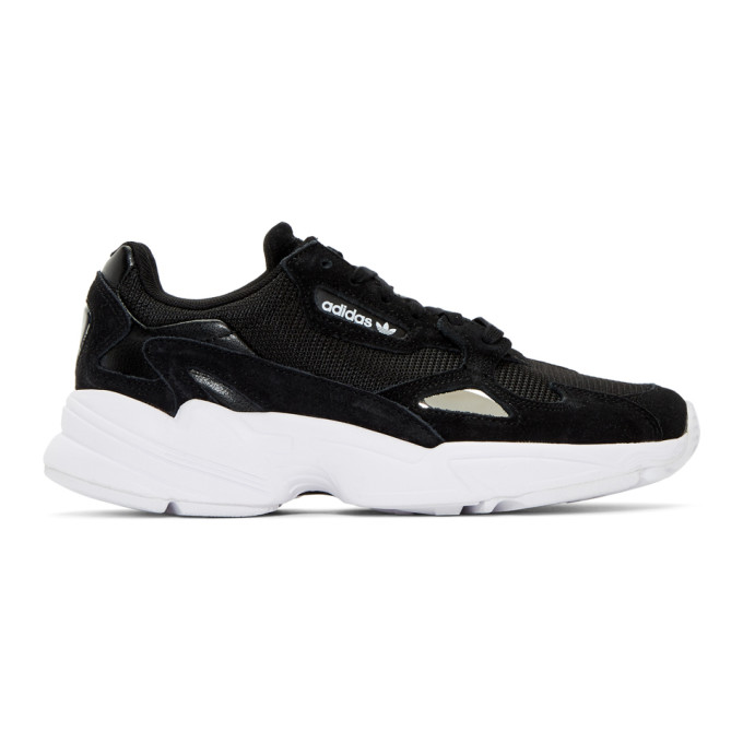 adidas Originals Black and Silver Falcon Sneakers