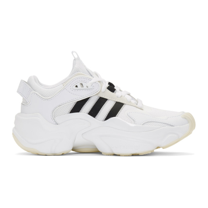 adidas Originals White and Black Tephra Sneakers