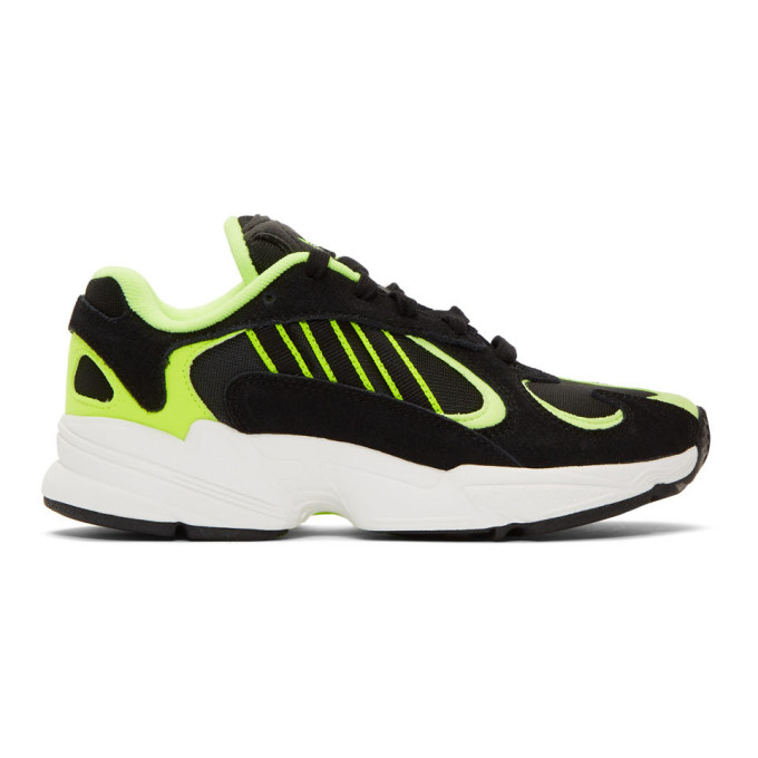 adidas Originals Black and Yellow Yung-1 Sneakers