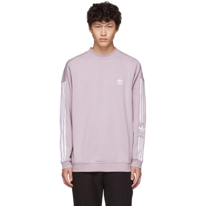 adidas Originals Purple Lock Up Crew Sweatshirt