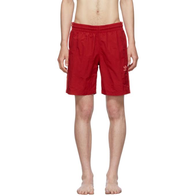 adidas Originals Maillot de bain rouge 3-Stripes