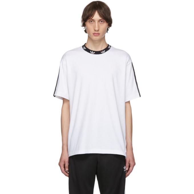 Adidas Originals T-shirts ADIDAS ORIGINALS WHITE TREFOIL T-SHIRT