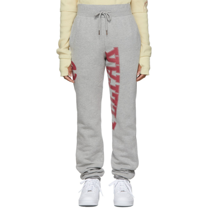 Telfar Pantalon de survetement gris Streetwear Branded