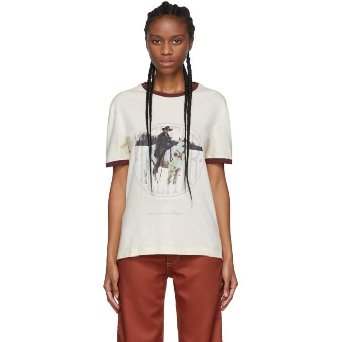 Telfar T-shirt blanc casse Cowboy Ringer