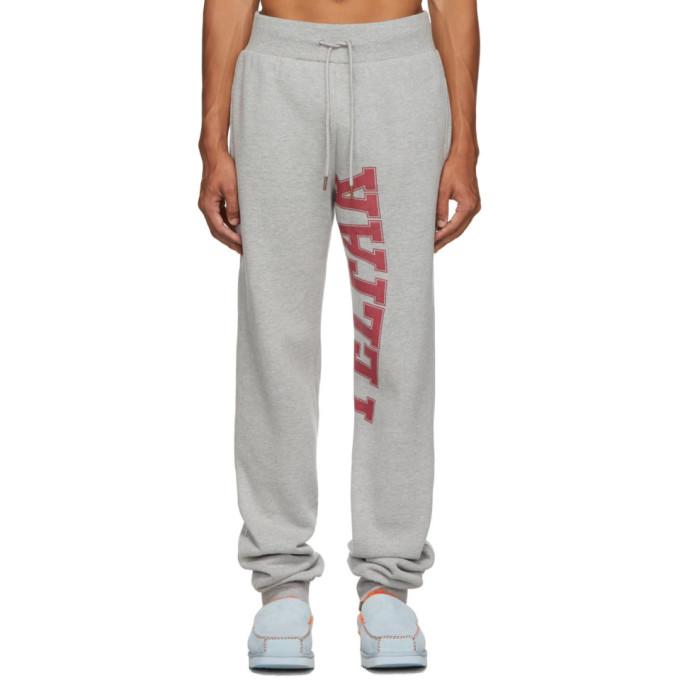 Telfar Pantalon de survetement a logo gris