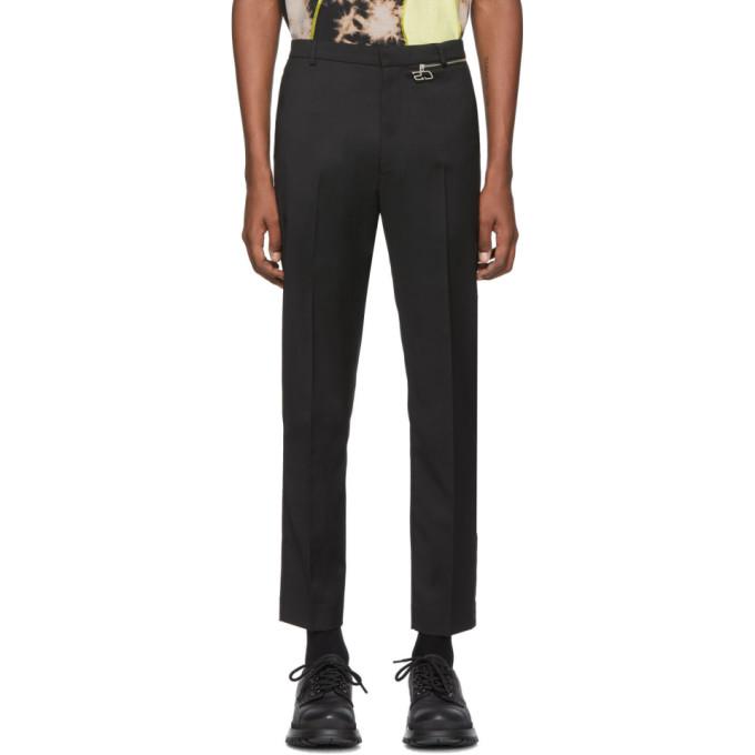 CMMN SWDN Black Wool Samson Trousers