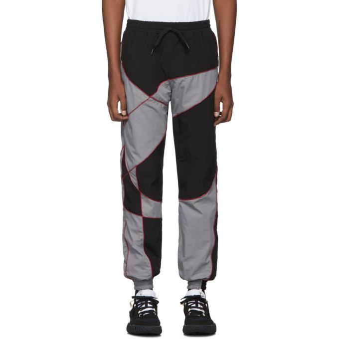 Liam Hodges Pantalon de survetement a ornement en silicone noir