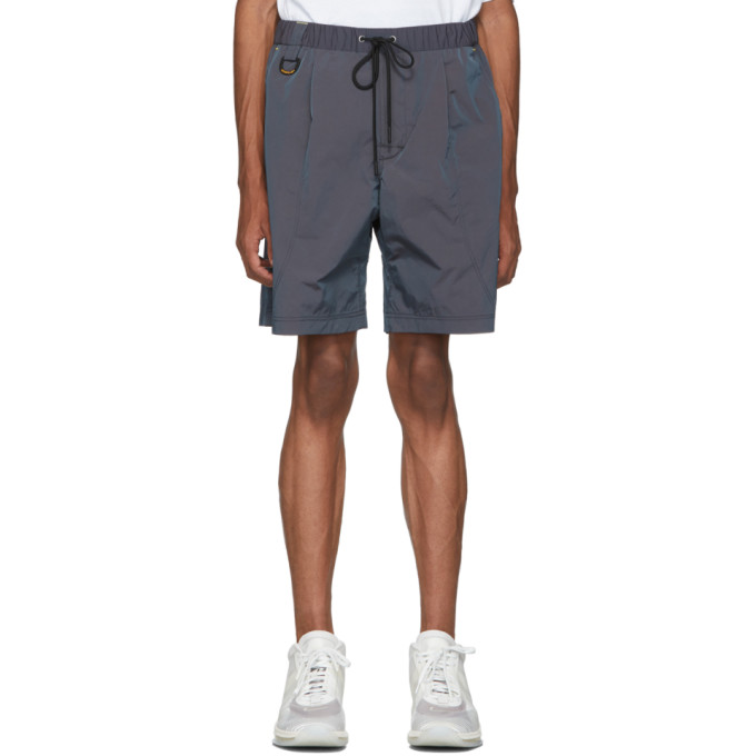 John Elliott Short en nylon irise bleu marine Running edition CAT