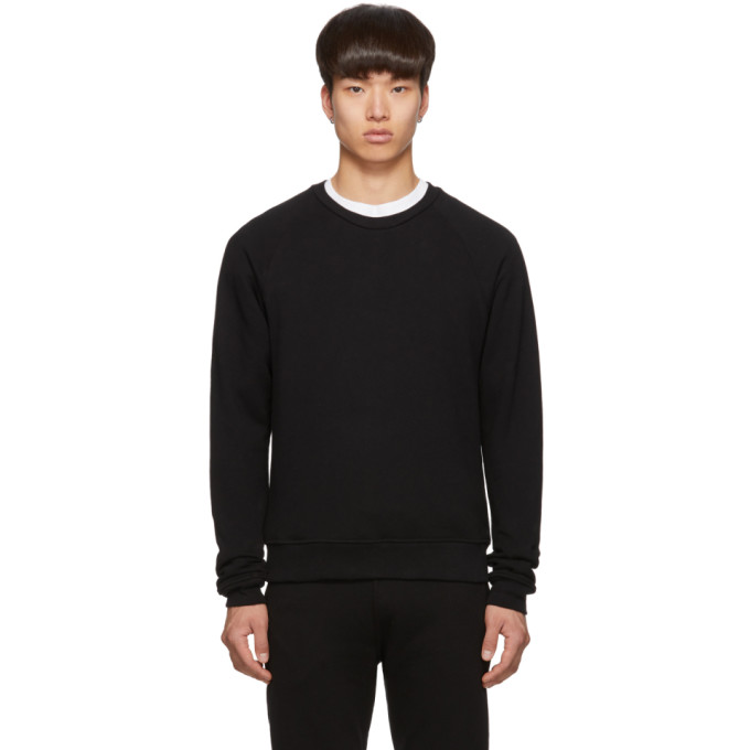 John Elliott Black Raglan Crew Sweatshirt