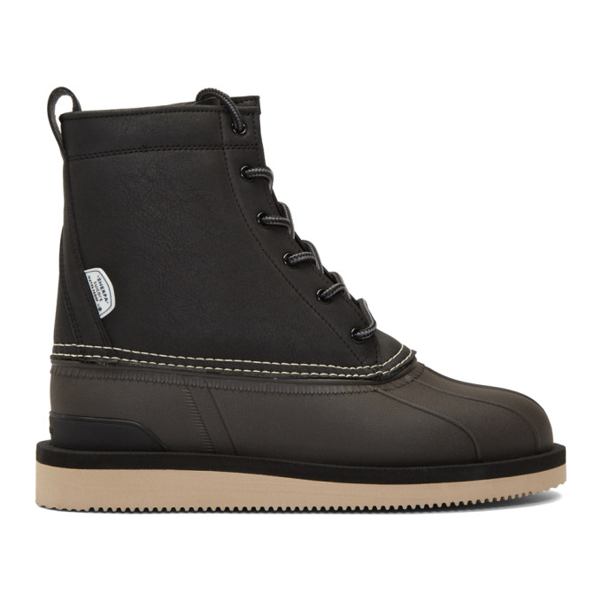 Suicoke Black and Brown Alal Boots