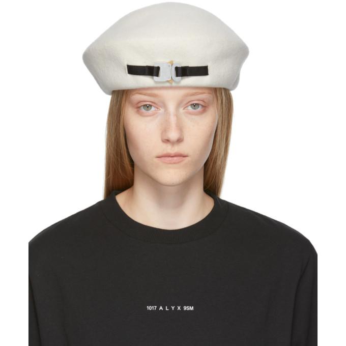 1017 Alyx 9SM Beret en laine blanc Bardot exclusif a SSENSE