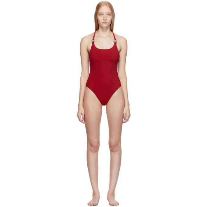 1017 Alyx 9SM Maillot de bain une piece rouge Susyn