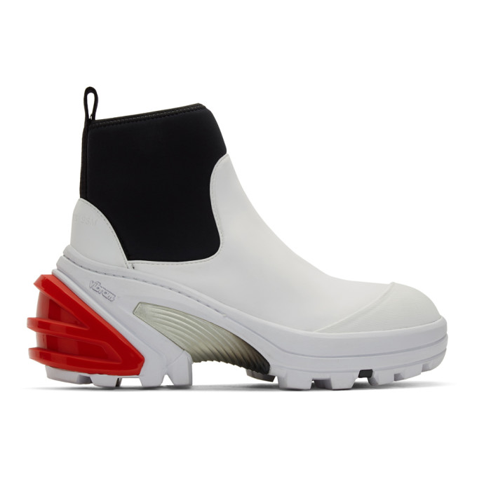 1017 ALYX 9SM White Fixed Sole Mid Boots