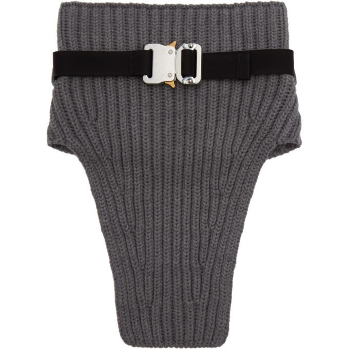 1017 ALYX 9SM Grey Wool Neck Warmer