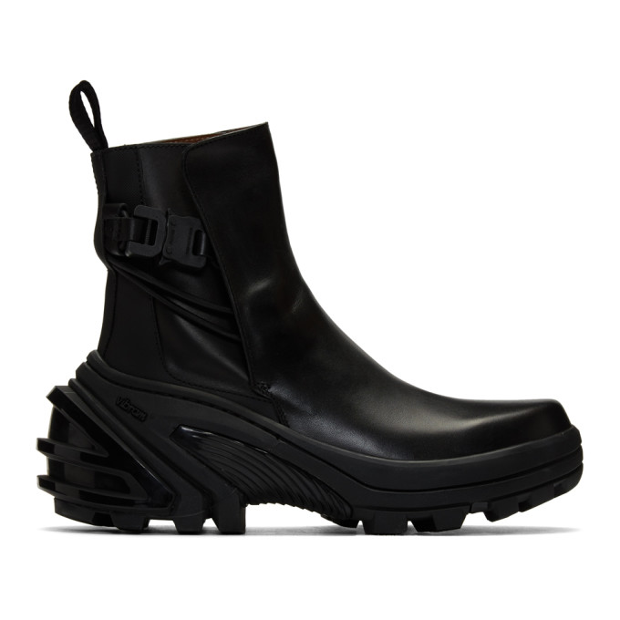 1017 ALYX 9SM Black Fixed Sole Low Buckle Boots