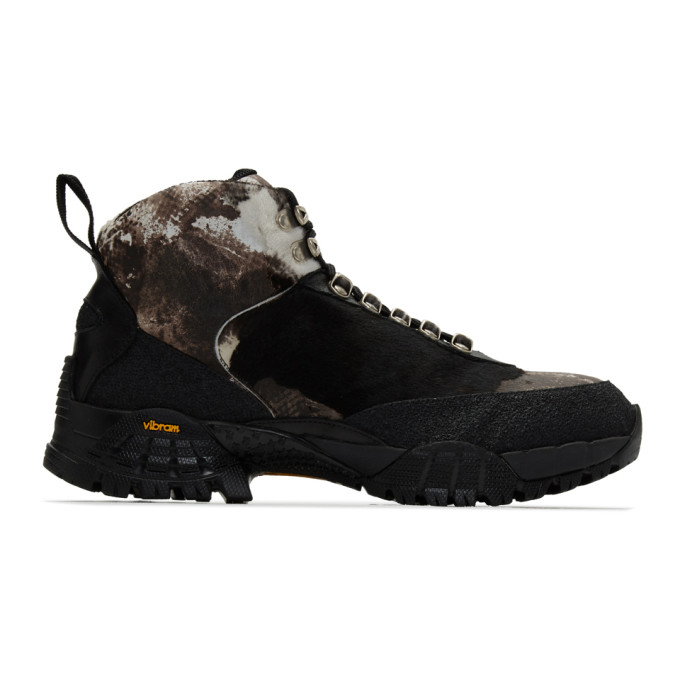 1017 ALYX 9SM Brown Pony Camo Hiking Boots
