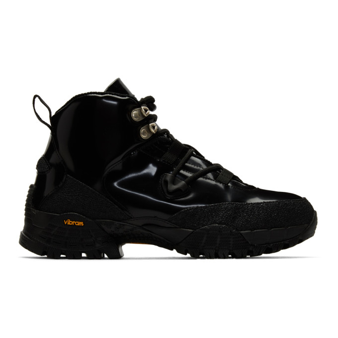 1017 ALYX 9SM Black Patent Hiking Boots