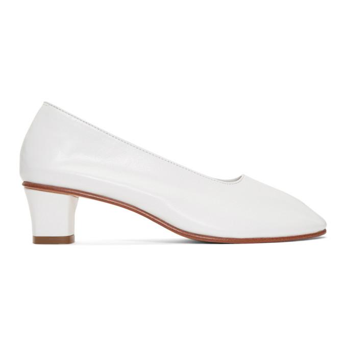 Martiniano White High Glove Heels