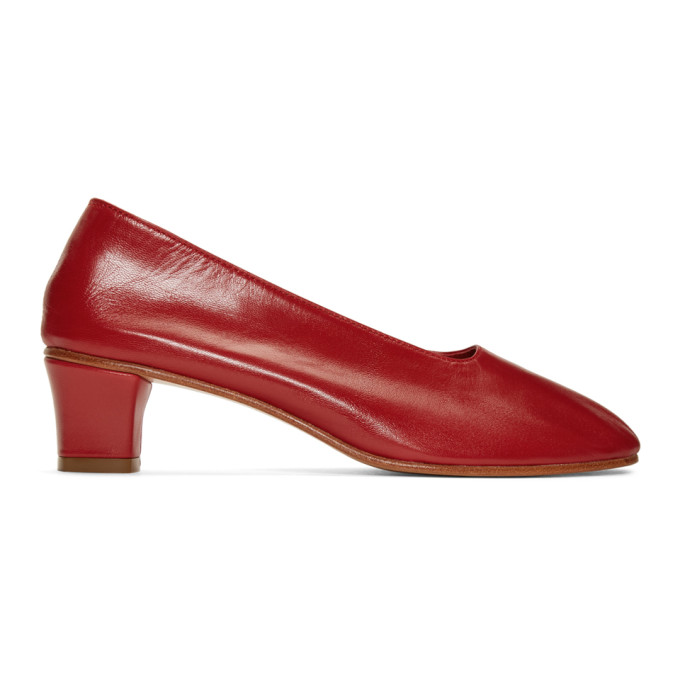 Martiniano Red High Glove Heels