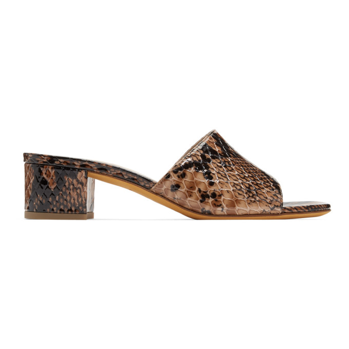 Maryam Nassir Zadeh Brown Python Agatha Sandals