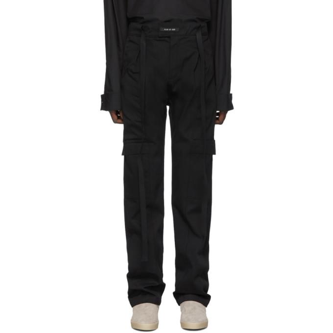 Fear of God Pantalon cargo noir Baggy