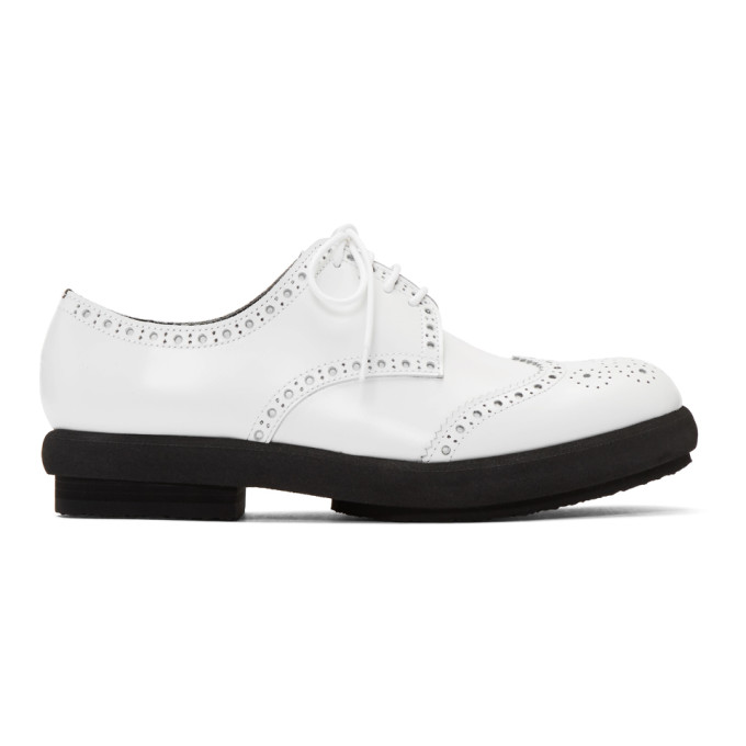 Tricot Comme des Garcons White Steer Glass Brogues