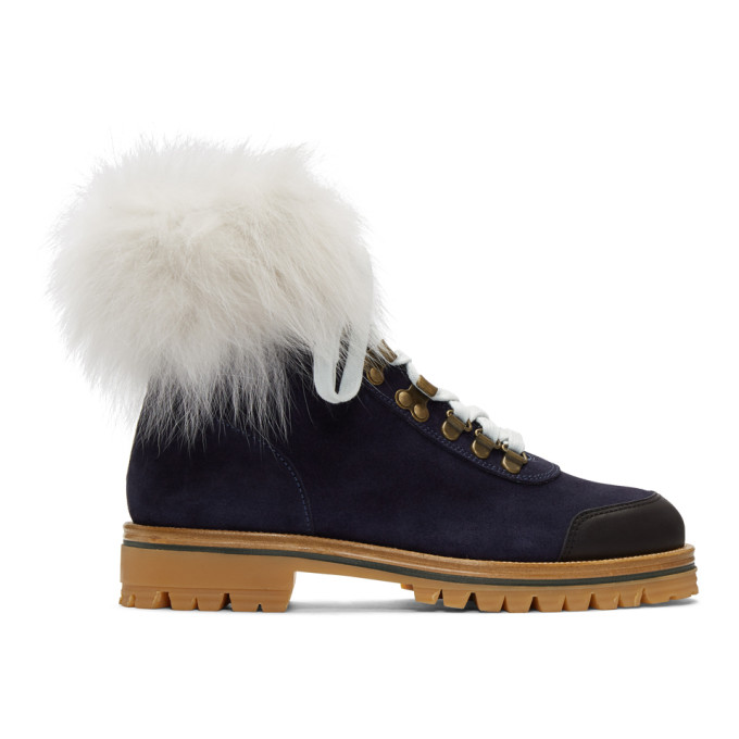 Mr and Mrs Italy Navy Combat Boots