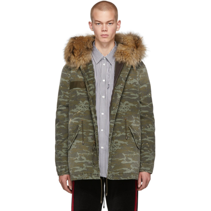 Mr and Mrs Italy Manteau a capuche vert Camo