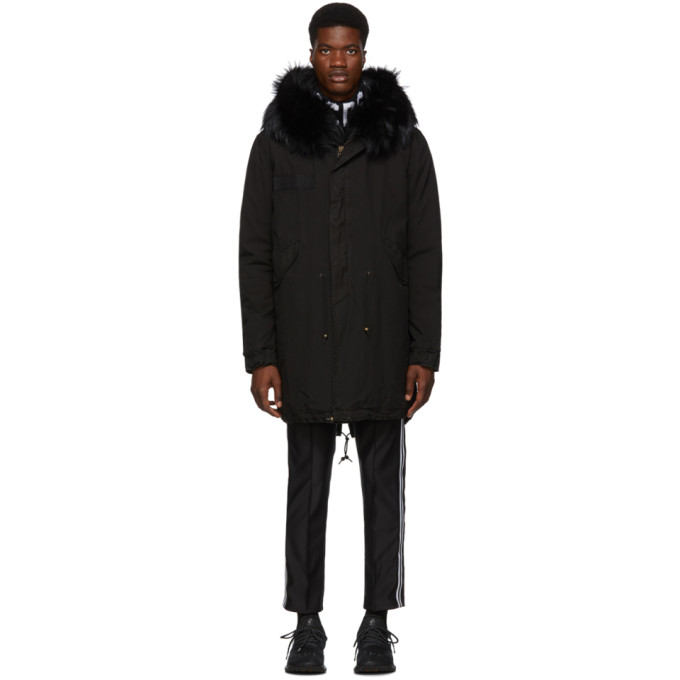 Mr and Mrs Italy Parka noire Quilted Lining