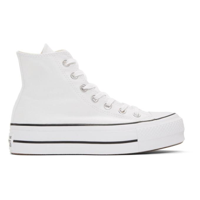 Converse ホワイト Chuck Taylor All Star リフト ハイ スニーカー