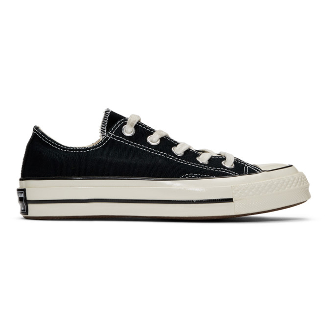 sports shoes 2cb3e 760ee CONVERSE   Converse Black Chuck 70 Low Sneakers   Goxip