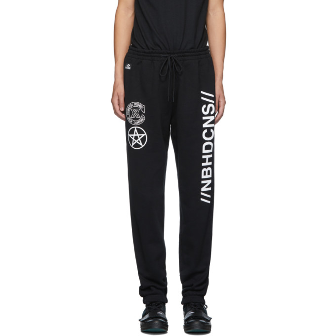 Neighborhood Pantalon de survetement a logo noir edition Converse
