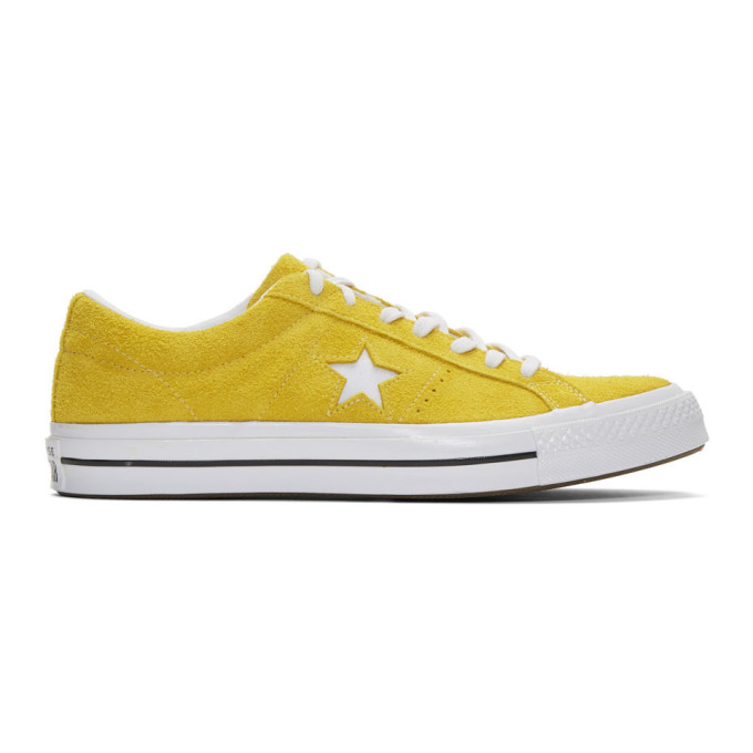 Converse イエロー スエード One Star Vintage OX スニーカー