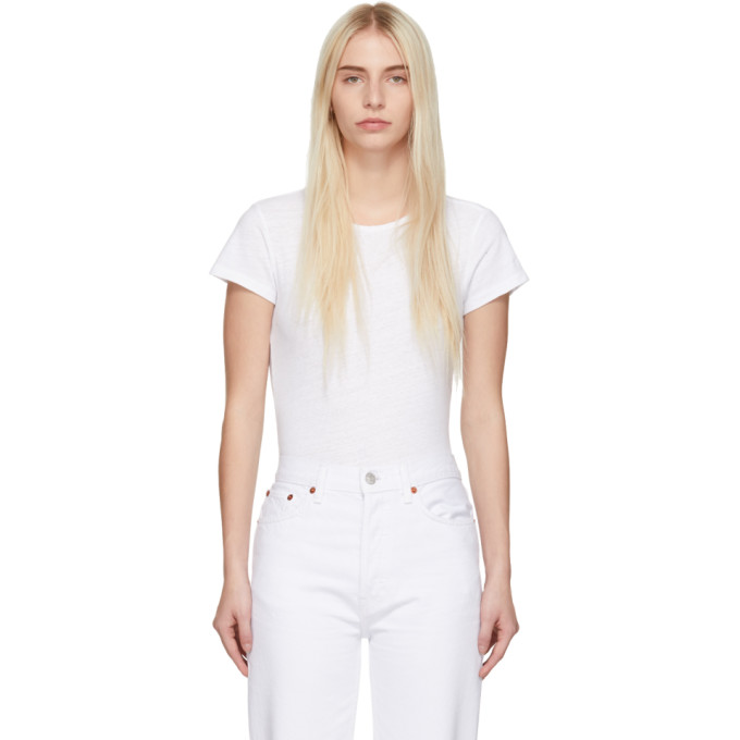 Re/Done Body blanc 1960s Slim Tee