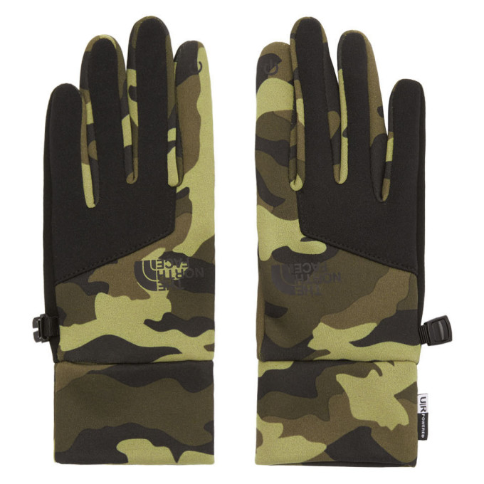 The North Face Gants a motif camouflage verts Etip