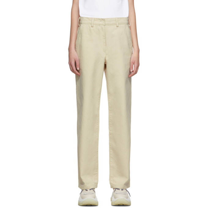 OUR LEGACY | Our Legacy Beige Workwear Trousers | Goxip