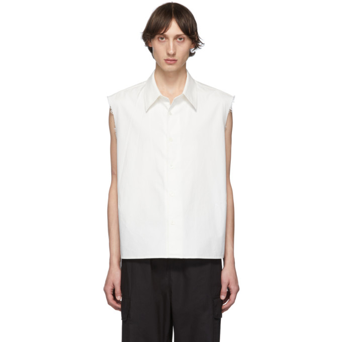 Our Legacy Chemise sans manches blanche Cut Cost