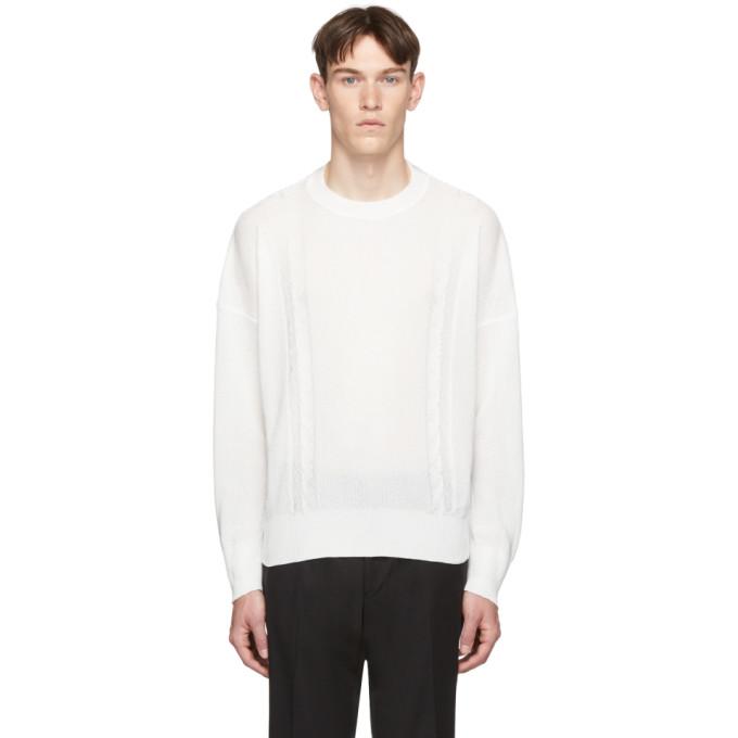 Our Legacy ホワイト スムース ケーブル セーター