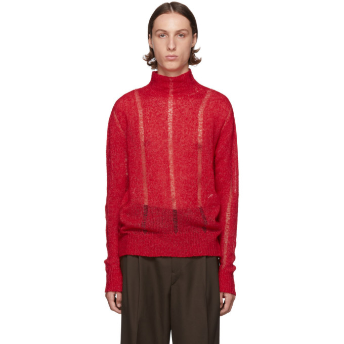 Our Legacy Pull rouge Submarine Rollneck