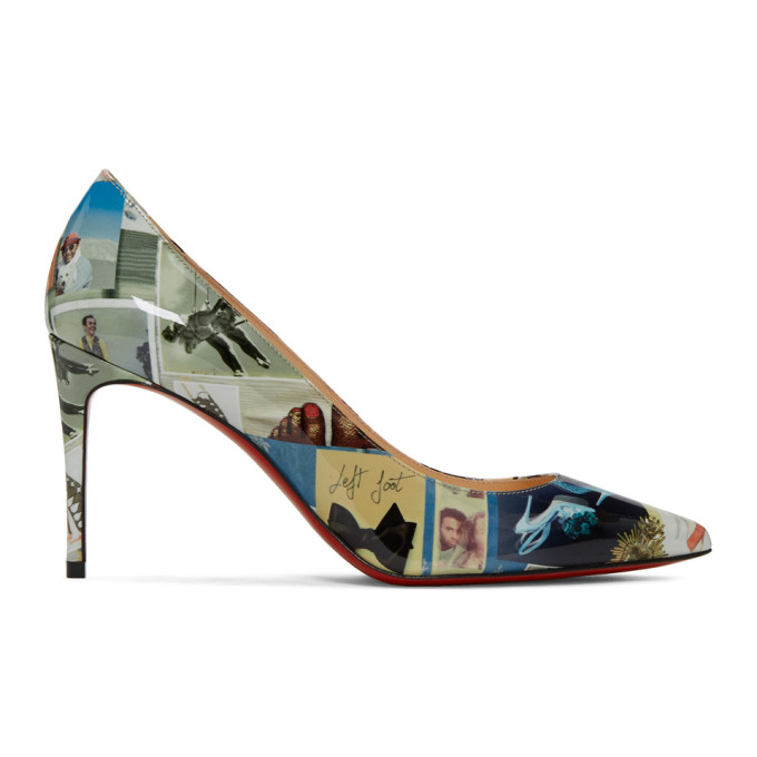 Christian Louboutin Multicolor Patent Collage Kate Heels