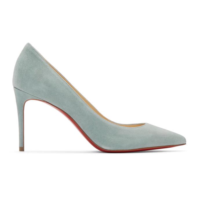 Christian Louboutin Blue Suede Kate Heels