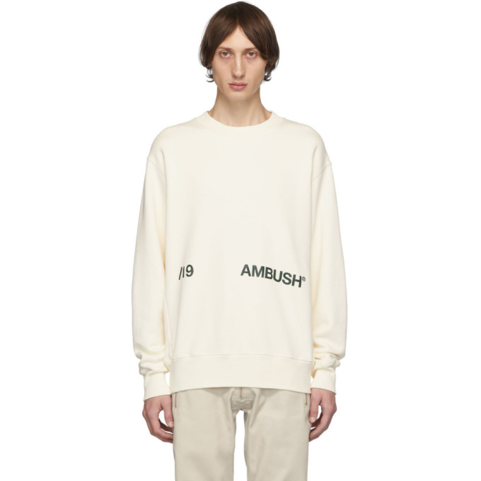 Ambush White Logo Crewneck Sweatshirt
