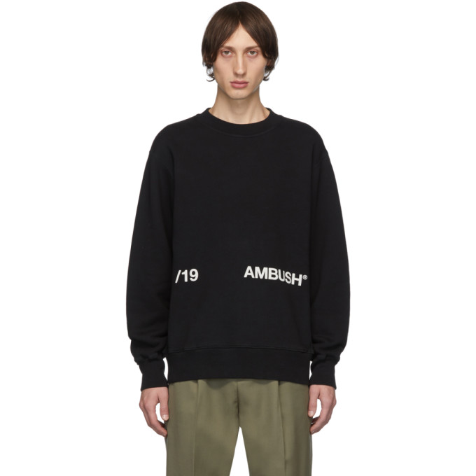 Ambush Black Logo Crewneck Sweatshirt