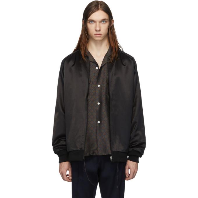 Needles リバーシブル ブラック リブ カラー ジャケット