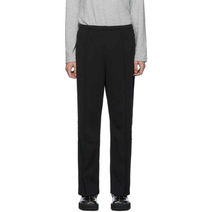 Needles Black Smooth Side Line Trousers
