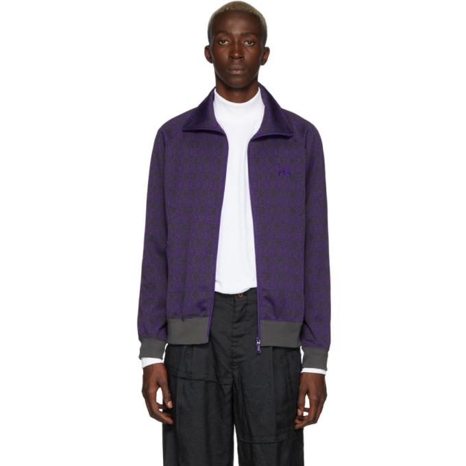 Needles Purple Jacquard Diamond Track Jacket
