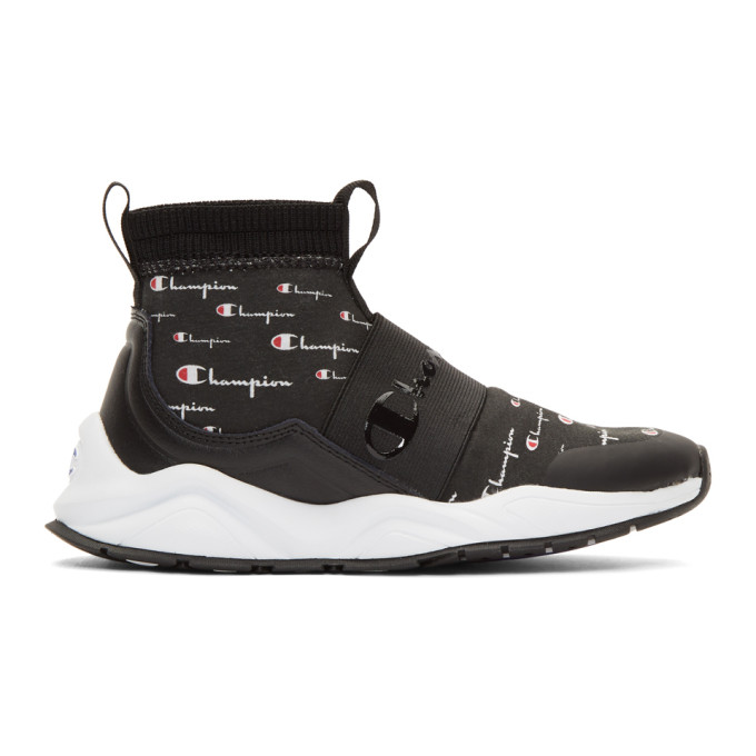 Champion Reverse Weave Black Rally Script Sneakers
