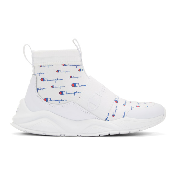 Champion Reverse Weave White Rally Script Sneakers